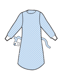 non-reinforced surgical gowns photo